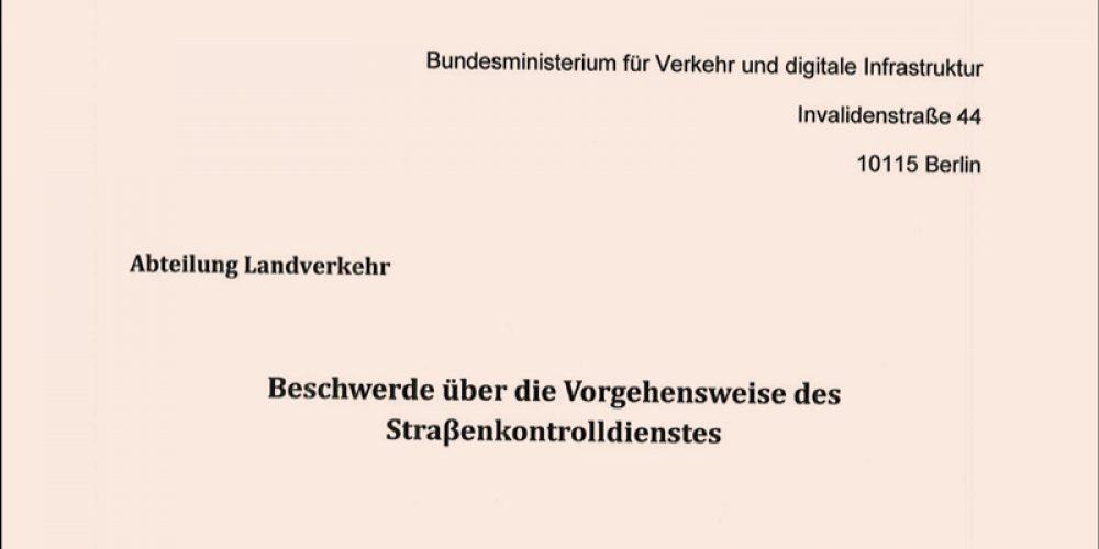Skarga OSPTN do Ministerstwa Transportu w Niemczech