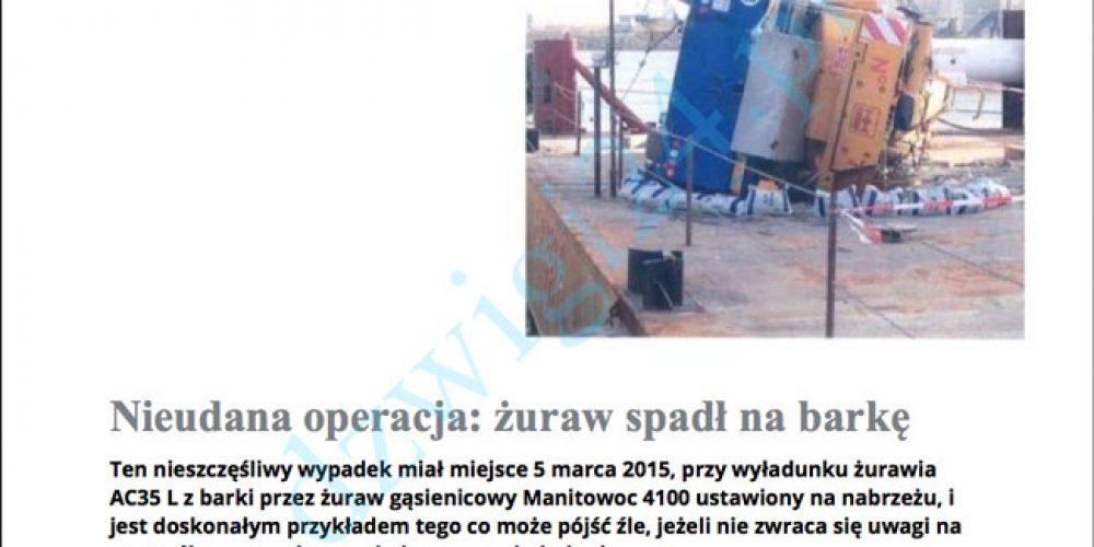 Współpraca OSTPN z przedstawicielstwem firmy TEREX Cranes w Polsce