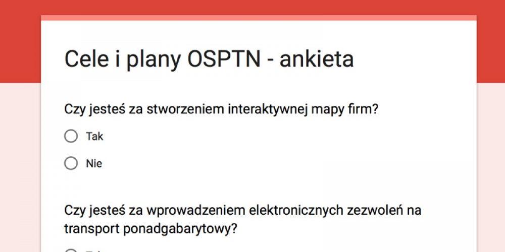 Plany i cele OSPTN  na najbliższe lata działalności
