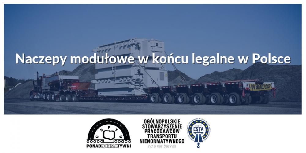 Naczepy modułowe w końcu legalne w Polsce