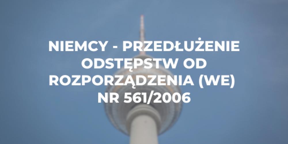Niemcy – przedłużenie odstępstw od rozporządzenia (WE) nr 561/2006