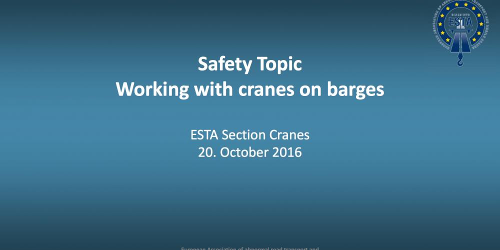 Raport ze spotkania sekcji dźwigowej ESTA