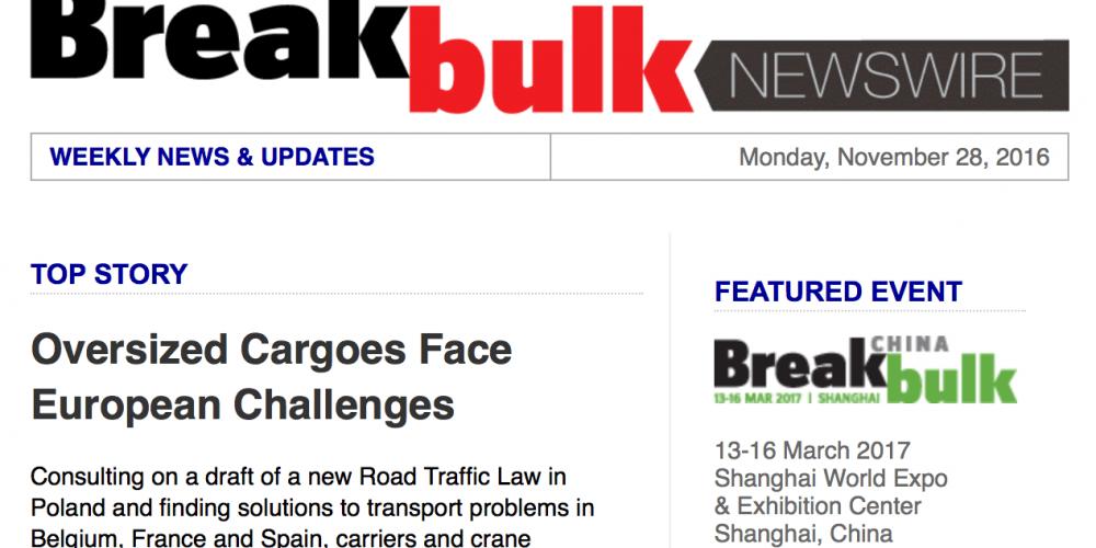 Breakbulk informuje o bieżącej działalności OSPTN