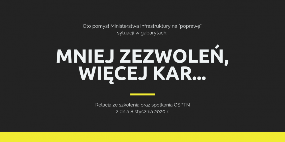 Relacja ze szkolenia OSPTN oraz spotkania ws. projektu ustawy