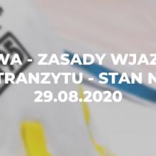 Litwa – zasady wjazdu i tranzytu – stan na 29.08.2020