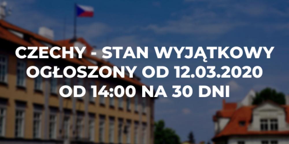 Czechy – stan wyjątkowy ogłoszony od dziś godz. 14:00 na 30 dni