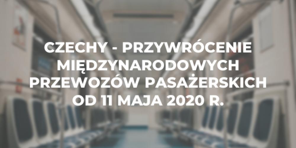 Czechy – przywrócenie międzynarodowych przewozów pasażerskich od 11 maja 2020 r.