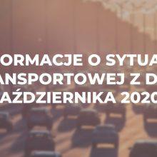 Informacje o sytuacji transportowej z dnia 1 października 2020 r.