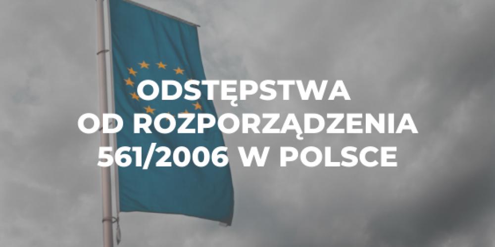 Odstępstwa od rozporządzenia 561/2006 w Polsce