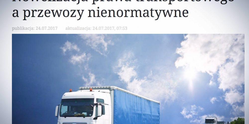 Rzeczpospolita publikuje wypowiedź Prezesa OSPTN Łukasza Chwalczuka na temat nowelizacji prawa transportowego