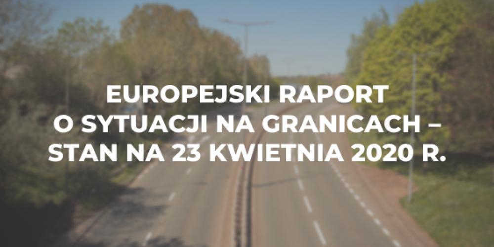 Europejski raport o sytuacji na granicach – stan na 23 kwietnia 2020 r.