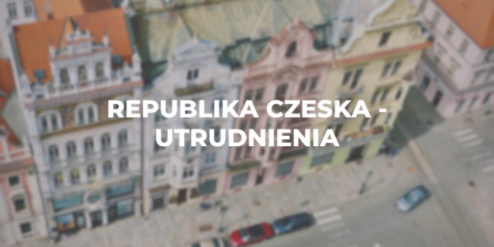 Republika Czeska – utrudnienia