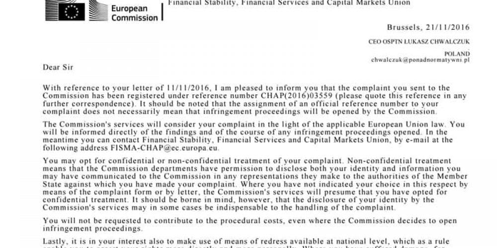 Ubezpieczeniem 25 mln € do par. 70 StVZ zajmie się Komisja Europejska
