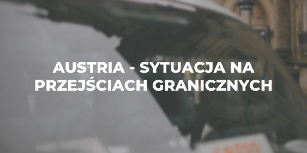 Austria – sytuacja na przejściach granicznych