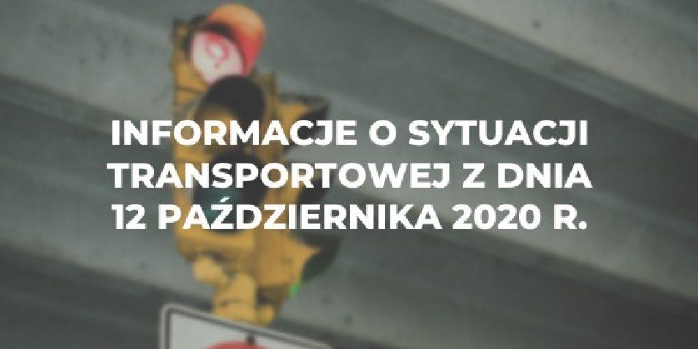 Informacje o sytuacji transportowej z dnia 12 października 2020 r.