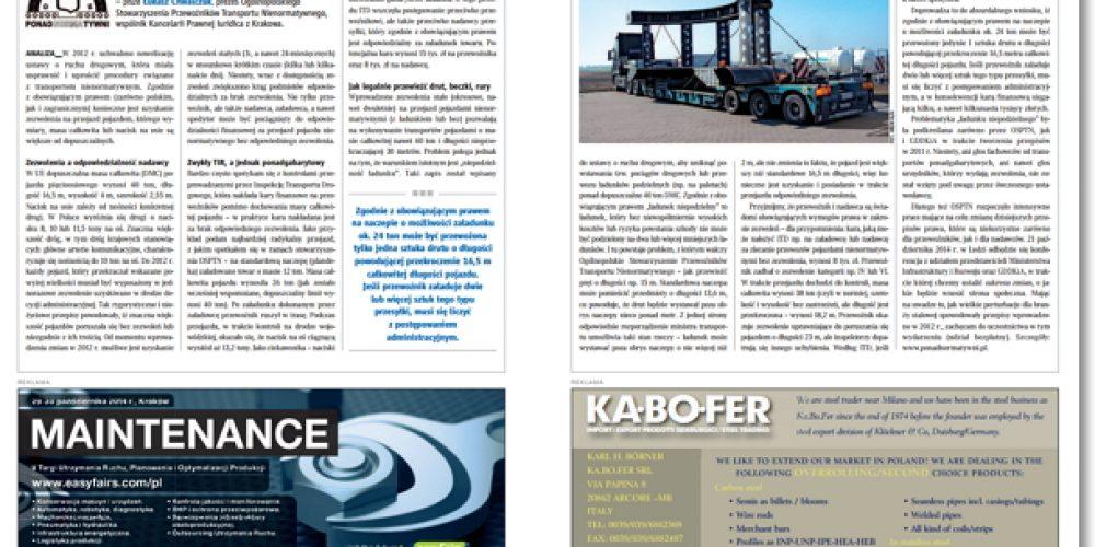 Transport ponadgabarytowy w branży stalowej